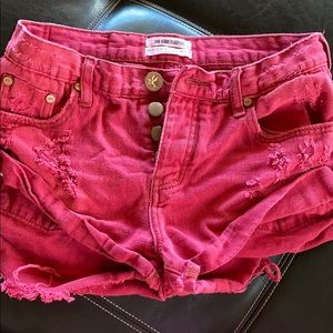 One Teaspoon RED Bandit Shorts Size 22